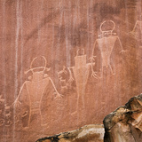 Utah, Capitol Reef National Park. Fremont Pictoglyph Panel Photographic Print by Jaynes Gallery