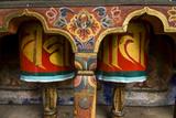 Typical Buddhist Praying Role, Kyichu Lhakhang, Bhutan Fotografisk trykk av Michael Runkel