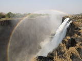 Africa, Zimbabwe, Victoria Falls. Rainbow over Waterfall Photographic Print by Jaynes Gallery