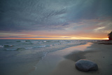 Michigan. Solitary Boulder on a Beach of Lake Superior, Pictured Rocks National Lakeshore Photographic Print by Judith Zimmerman