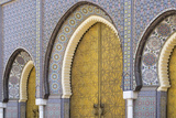 Morocco, Fes. a Detail of the King's Palace Doors Photographic Print by Brenda Tharp