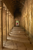 Third Enclosure Gallery, Angkor World Heritage Site Photographic Print by David Wall