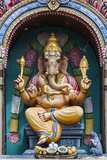 Singapore, Chinatown, Sri Mariamman Hindu Temple, Detail of Hindu Deity, Ganesh Photographic Print by Walter Bibikow