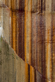 Michigan. Mineral Seep Wall Detail Along Shore of Lake Superior, Pictured Rocks National Lakeshore Photographic Print by Judith Zimmerman