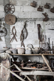 Pozos, Mexico. Antique Tools Photographic Print by Julien McRoberts