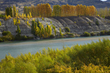 Autumn Colour at Bannockburn, and Kawarau Arm of Lake Dunstan, South Island, New Zealand Photographic Print by David Wall