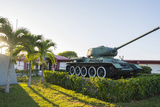 Cuba. Matanzas. Playa Giron. Tank Used in the Bay of Pigs Battle Photographic Print by Inger Hogstrom