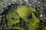 Volcanic Crater, Mt. Eden, Auckland, North Island, New Zealand Photographic Print by David Wall