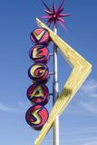 Nevada, Las Vegas, Fremont Street. Oscar'S Neon Martini Glass and Vegas Neon Signs Photographic Print by Michael DeFreitas