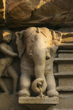 Nymph and the Elephant, Khajuraho, Madhya Pradesh, India Photographic Print by Jagdeep Rajput