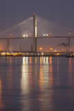 Georgia, Savannah, Span of the Talmadge Memorial Bridge Photographic Print by Joanne Wells