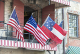 Georgia, Savannah, River Street, Flags Photographic Print by Jim Engelbrecht