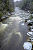 West Virginia, Blackwater Falls State Park. Blackwater River Rapids in Winter Photographic Print by Jaynes Gallery