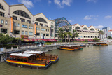 Singapore, Riverside Point, Entertainment District, Exterior Photographic Print by Walter Bibikow