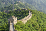 The Original Mutianyu Section of the Great Wall, Beijing, China Fotoprint van Michael DeFreitas