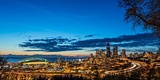 City Skyline from Jose Rizal Park in Downtown Seattle, Washington State, Usa Photographic Print by Chuck Haney