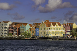 Colorful Dutch Architecture Lines the Wharf at Willemstad, Curacao, West Indies Photographic Print by Brian Jannsen