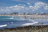 New Hampshire, Hampton Beach, Beach in Summer Photographic Print by Walter Bibikow