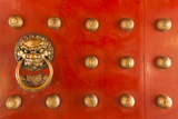 Singapore, Chinatown, Buddha Tooth Relic Temple, Gate Detail Photographic Print by Walter Bibikow