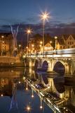 Beacon of Hope Statue, Lagan Bridge and Town of Belfast, County Antrim, Northern Ireland, Uk Photographic Print by Brian Jannsen