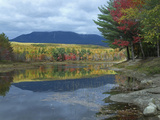 Mount Katahdin from Abel Creek in Autumn, Baxter State Park, Maine Photographic Print by Tim Fitzharris