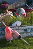 Maine, Bailey Island, Lobster Buoys Fotografie-Druck von Walter Bibikow