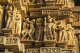 Erotic Sculptures of Khajuraho, Madhya Pradesh, India Photographic Print by Jagdeep Rajput