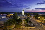 Morning Twilight over City Hall and Town of Athens, Georgia, Usa Photographic Print by Brian Jannsen
