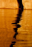 Utah. Detail, Colorful Abstract Reflections, Sunrise Reflections Off Tapestry Wall on Lake Powell Photographic Print by Judith Zimmerman