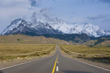 Road Leading to Mount Fitzroy Near El Chalten, Patagonia, Argentina, South America Photographic Print by Michael Runkel