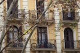 Small Apartments with Patios are a Common Sight in Downtown Barcelona, Spain Photographic Print by Paul Dymond