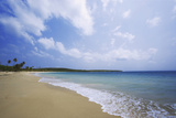 Caribbean, Puerto Rico, Vieques Island. Surf at Red Beach Photographic Print by Jaynes Gallery