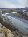 River Running Through Wind Canyon, Theodore Roosevelt National Park, North Dakota Photographic Print by Tim Fitzharris