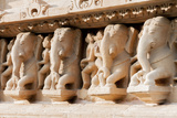 India, Khajuraho, Madhya Pradesh State Temple of Kandariya with a Profusion of Stone Carvings Photographic Print by Ellen Clark