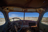 Utah, Capitol Reef National Park. Inside Cab of Old Drilling Rig Photographic Print by Jaynes Gallery