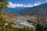 Mo Chhu and Pho Chhu River Through Punakha, Bhutan Photographic Print by Michael Runkel