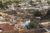 Cuba, Trinidad. Colorful View over the Rooftops Photographic Print by Brenda Tharp