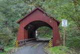 Oregon, Siuslaw National Forest, North Fork Yachats Bridge on the Yachats River Photographic Print by John Barger