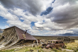 Nevada, Cherry Creek. Collapsed Building and Rusted Vintage Car Photographic Print by Jaynes Gallery