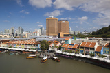 Singapore, Clarke Quay, Entertainment District, Exterior Photographic Print by Walter Bibikow