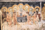 Macedonia, Lake Ohrid. St. Naum Monastery. Frescos of St. Cyril and Methody and Students Photographic Print by Emily Wilson