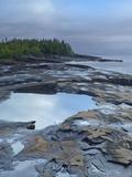 Lake Superior at Artists Point Grand Marais, Minnesota Photographic Print by Tim Fitzharris