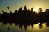 Sunrise over Angkor Wat, Angkor World Heritage Site, Siem Reap, Cambodia Photographic Print by David Wall