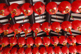 Singapore, Chinatown, Thian Hock Keng Temple, Chinese Red Lanterns Photographic Print by Walter Bibikow