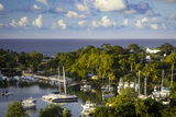 Setting Sun over the Tiny Harbor in Castries, St. Lucia, West Indies Photographic Print by Brian Jannsen