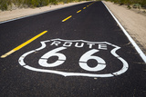 Highway Marker on Historic Route 66, Seligman, Arizona, Usa Photographic Print by Russ Bishop