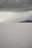 Utah, Bonneville Salt Flats. Approaching Thunderstorm over Bonneville Salt Flats Photographic Print by Judith Zimmerman