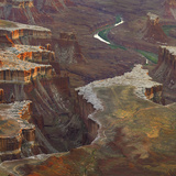 Aerial Viewed from the Green River Overlook, Canyonlands National Park, Utah Photographic Print by Tim Fitzharris