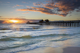 Sunset over the Naples Pier on the West Coast of Florida, Usa Photographic Print by Brian Jannsen