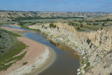 River Bend in the Roosevelt National Park, North Dakota, Usa Photographic Print by Michael Runkel